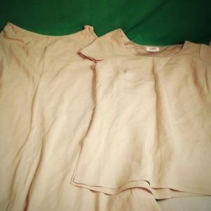 NWT Talbot's silk ta 2 piece skirt and blouse sz 8